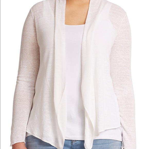 9689da7ec8 Eileen Fisher Sweaters - Eileen fisher white draped open front Cardigan